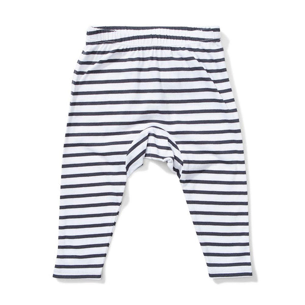 Mini Munster Wires Legging Black White Stripe - Tiny People Cool Kids Clothes Byron Bay