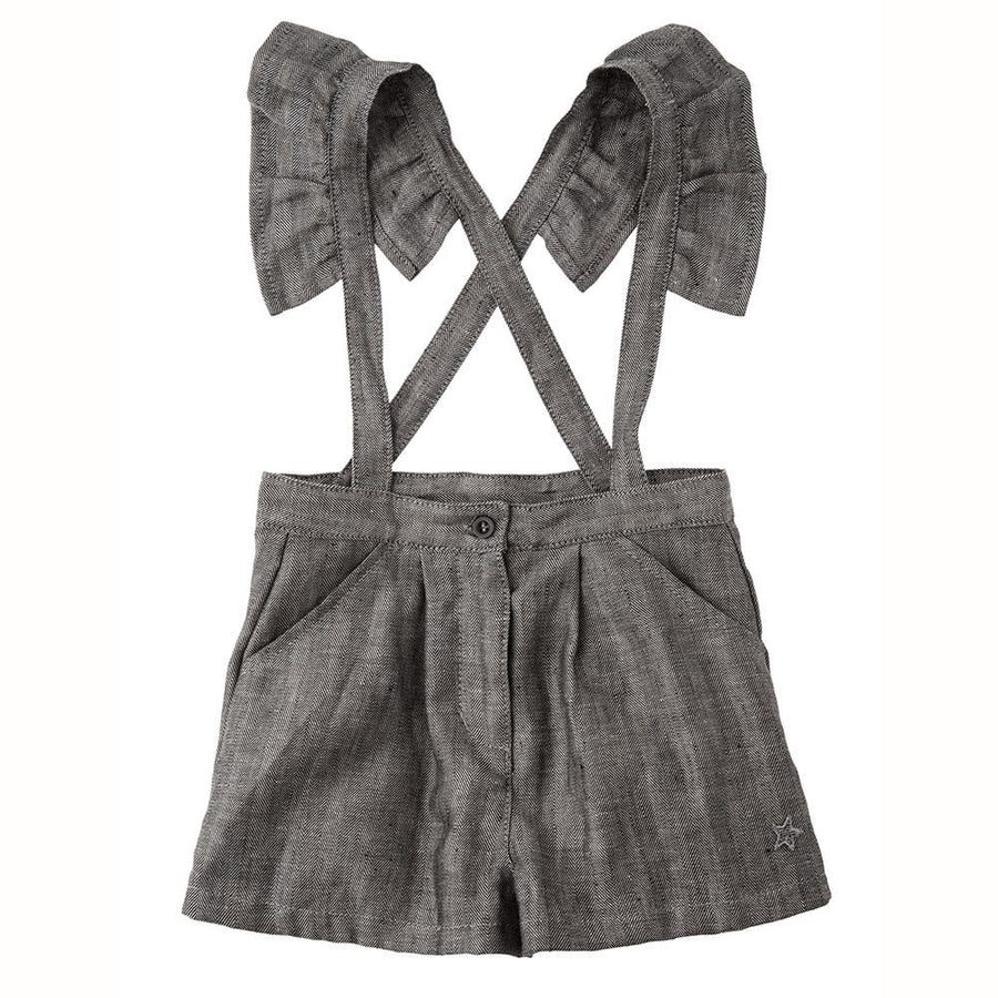 Tocoto Vintage Herringbone Suspenders Short - Tiny People Cool Kids Clothes Byron Bay