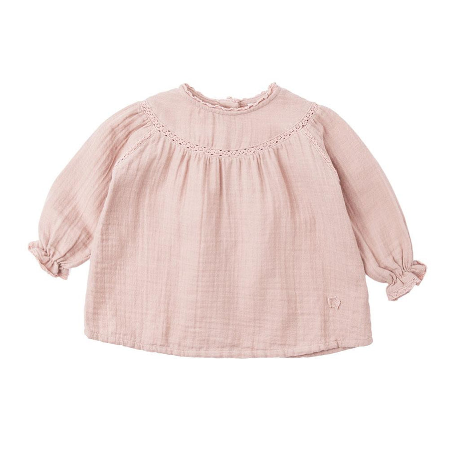 Tocoto Vintage Lace Baby Blouse Pink - Tiny People Cool Kids Clothes Byron Bay
