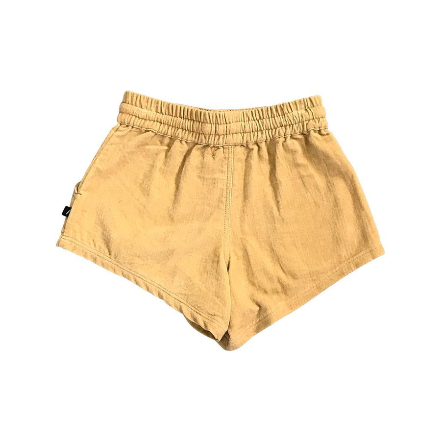 Feather Drum Pixie Velvet Shorts - Honey - Tiny People Cool Kids Clothes Byron Bay