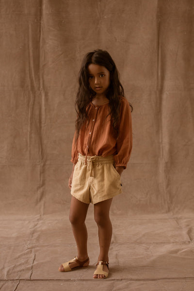 Feather Drum Lily Blouse - Cinnamon - Tiny People Cool Kids Clothes Byron Bay