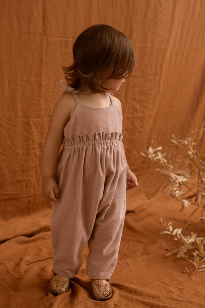 Feather Drum Kara Velvet Playsuit - Dusk - Tiny People Cool Kids Clothes Byron Bay