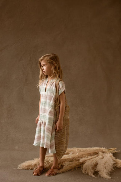 Feather Drum Bowie Dress - Beach Stripe - Tiny People Cool Kids Clothes Byron Bay