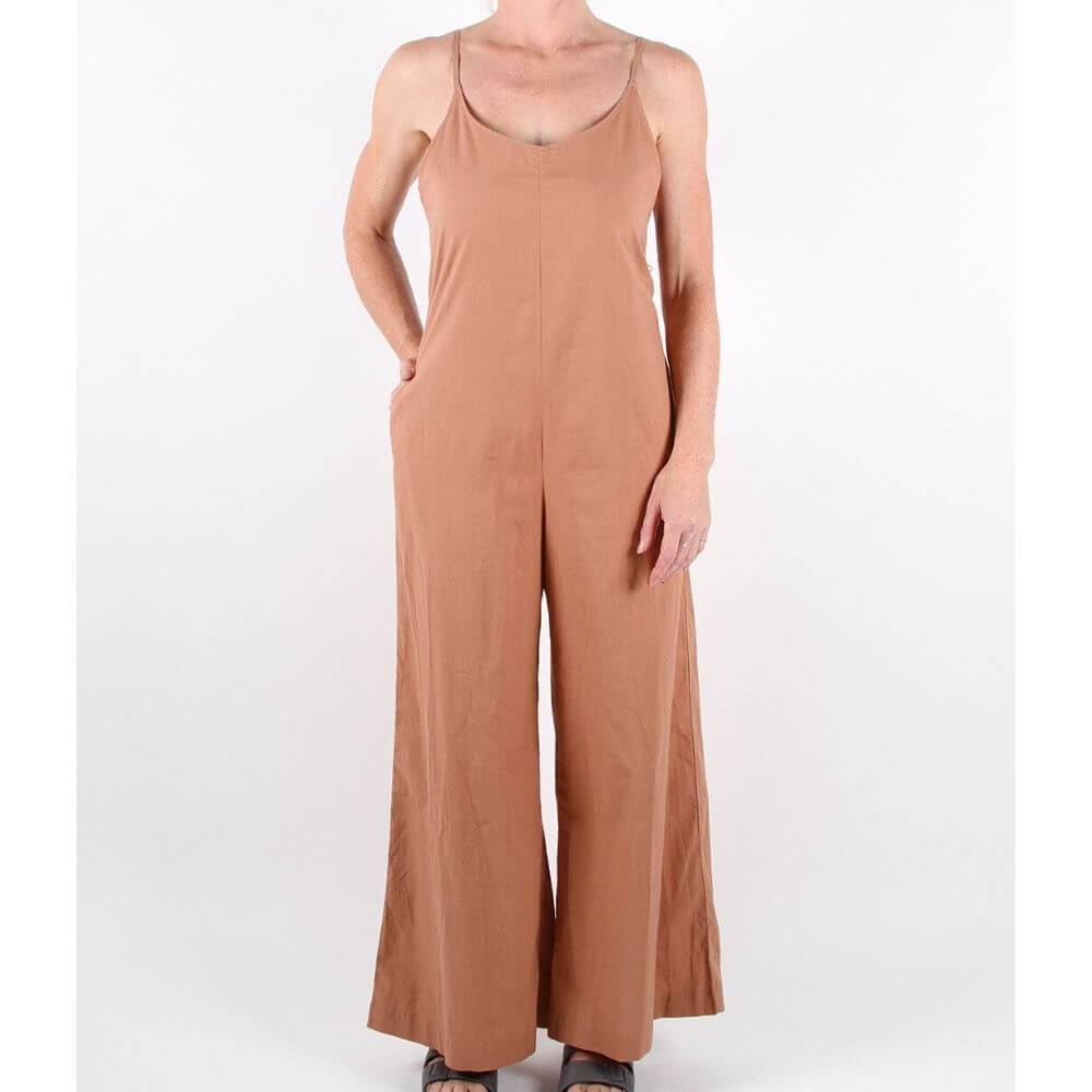 Feather Drum Women's Valda Jumpsuit Mocha | Tiny People