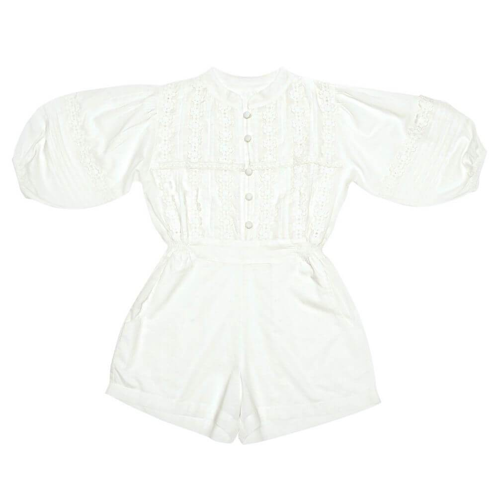 Coco & Ginger Boheme Playsuit Gardenia Girls Jumpsuits - Tiny People Cool Kids Clothes
