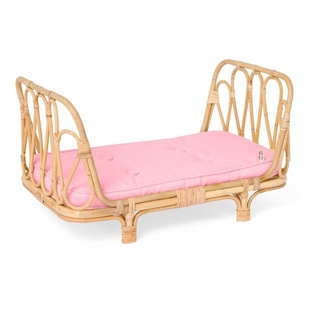 Poppie Toys Poppie Day Bed Pink toys - Tiny People Cool Kids Clothes
