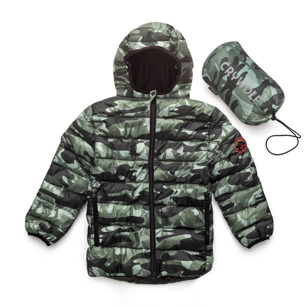 Crywolf Eco Puffer Camo | Tiny People