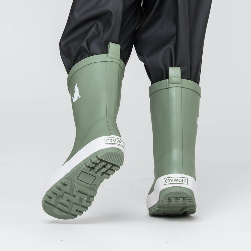 Crywolf Rain Boots Sage | Tiny People