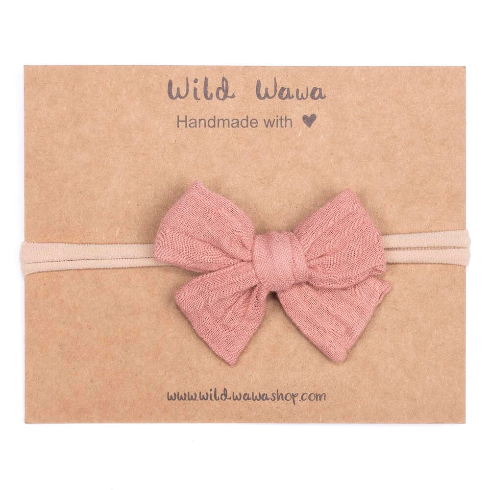 Wild Wawa Bow Headband Stardust Solid | Tiny People