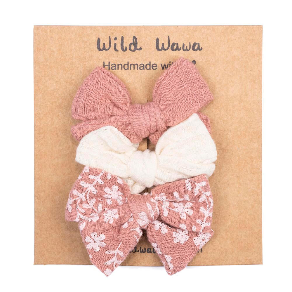 Wild Wawa Bow Clips 3PC Stardust | Tiny People