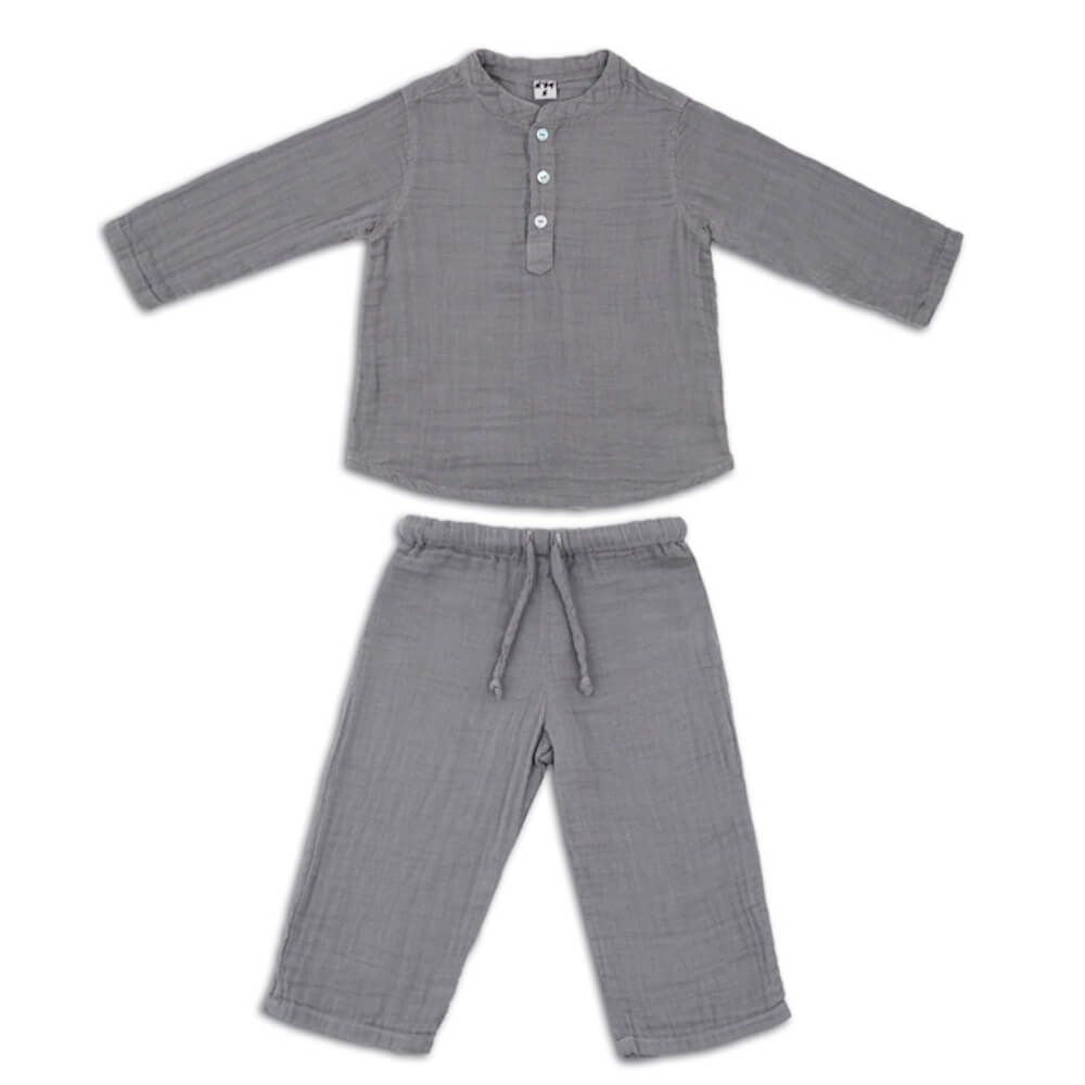 Numero 74 Dan Suit Stone Grey | Tiny People