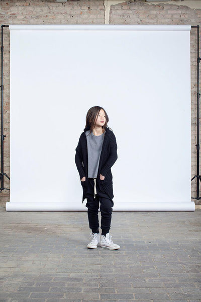 I Dig Denim Dila SS - Graphite Girls Tops & Tees - Tiny People Cool Kids Clothes
