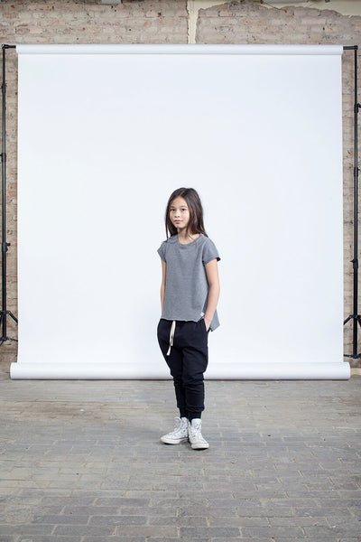 I Dig Denim Dila SS - Graphite - Tiny People Cool Kids Clothes Byron Bay