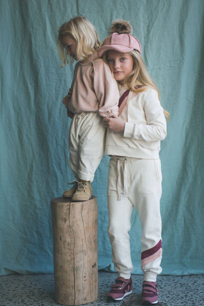Feather Drum Taylor Track Pant Whisper Girls Pants & Leggings - Tiny People Cool Kids Clothes