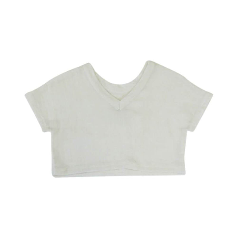 V Back Box Tee Milk