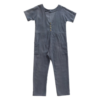 Feather Drum Corey Jumpsuit Bluemoon Girls Jumpsuits - Tiny People Cool Kids Clothes