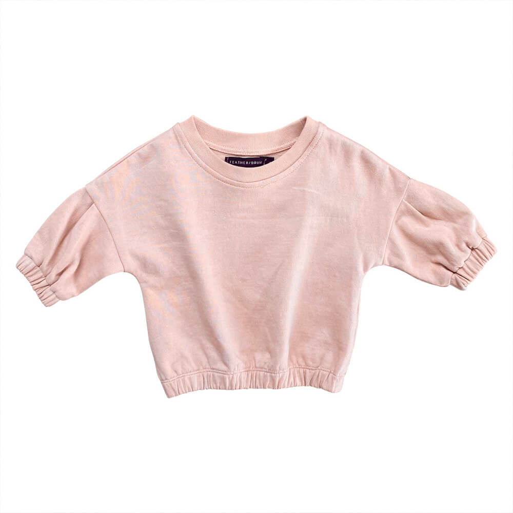 Feather Drum Avery Baby Sweater Floss | Tiny People