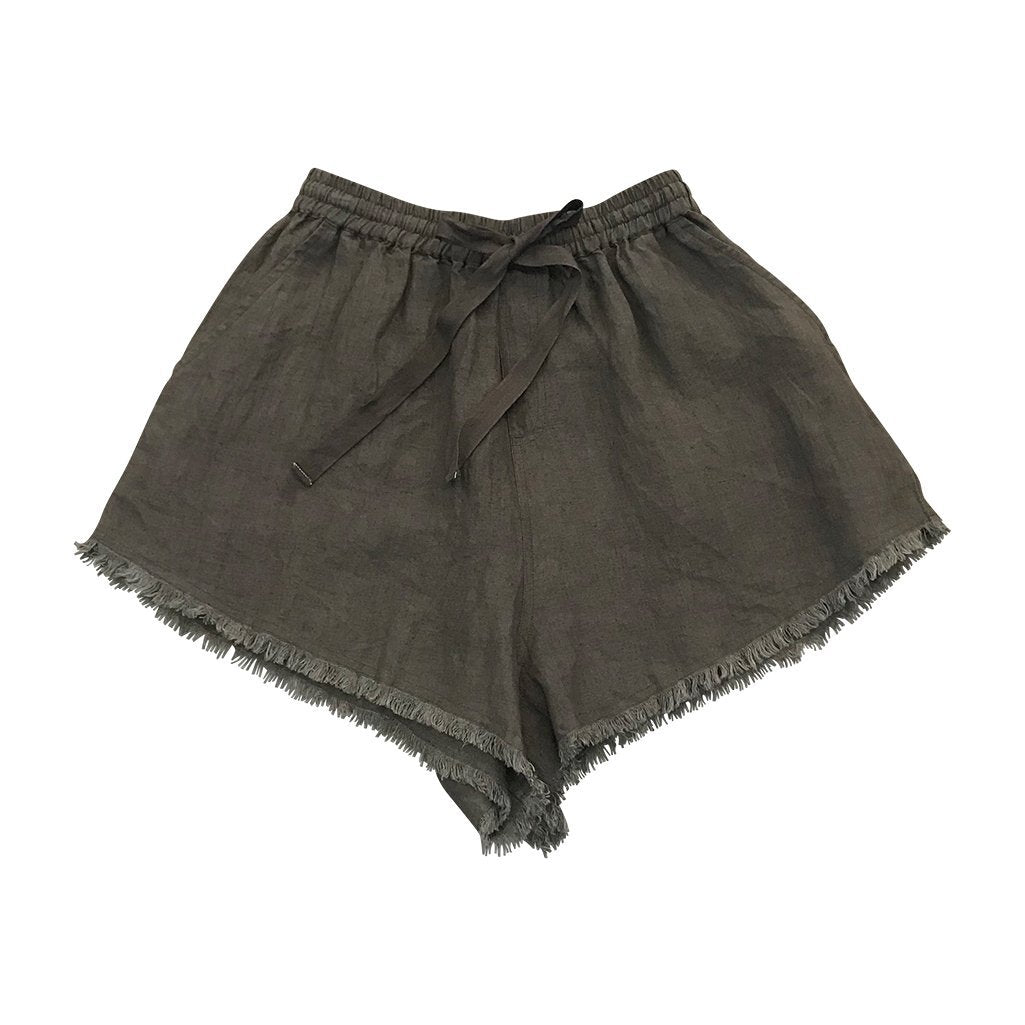 Feather Drum Women's Pixie Shorts - Gunmetal Womens Bottoms - Tiny People Cool Kids Clothes