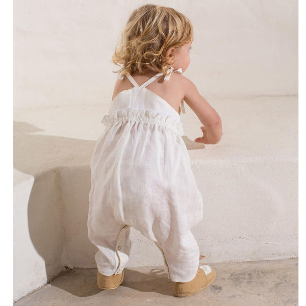 Feather Drum Kara Playsuit Milk - Tiny People Cool Kids Clothes