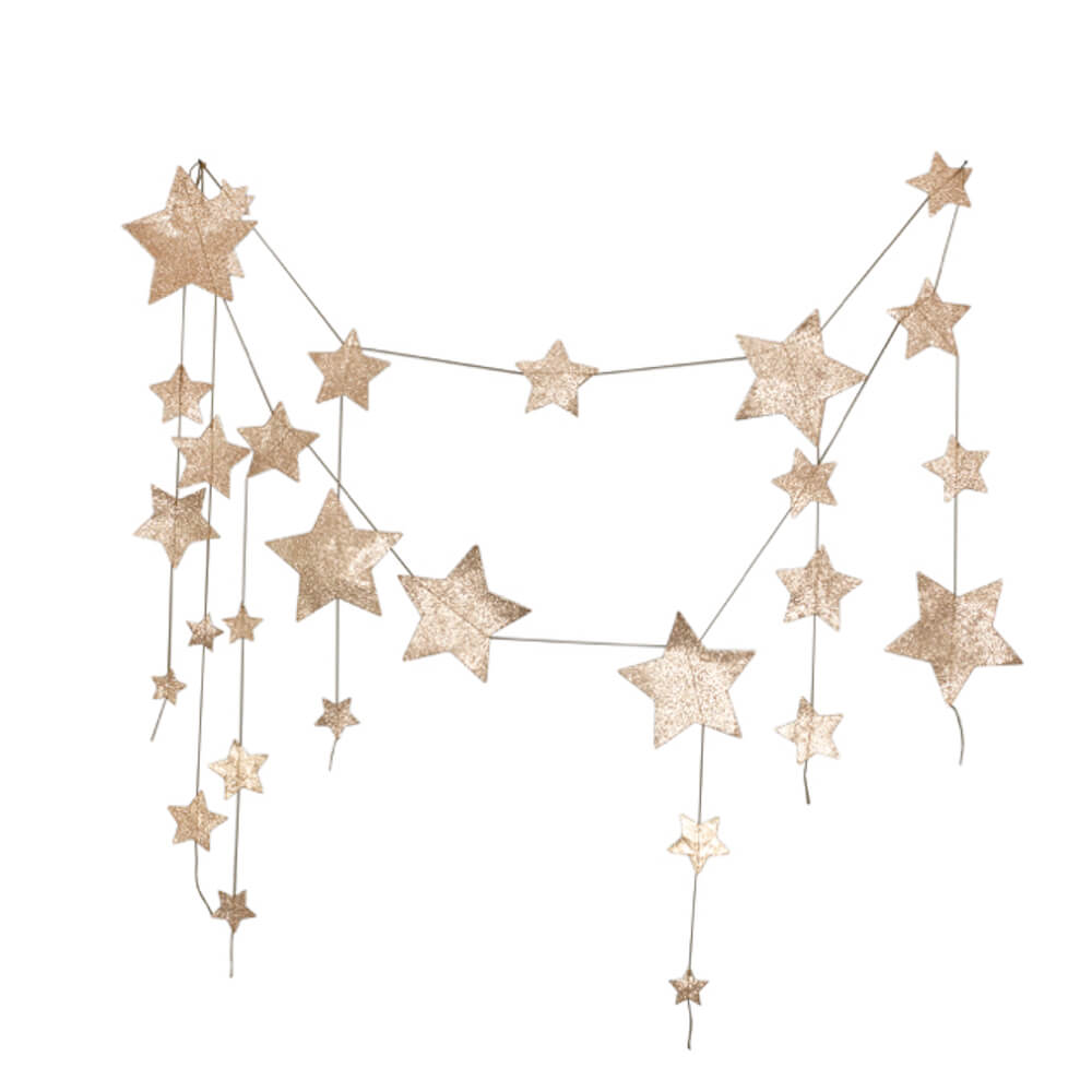 Numero 74 Falling Star Garland Gold | Tiny People