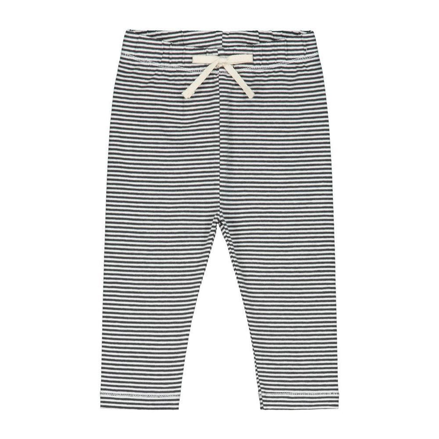 Baby Leggings Nearly Black and Cream Stripe