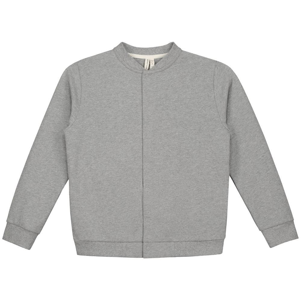 Baseball Cardigan Grey Melange