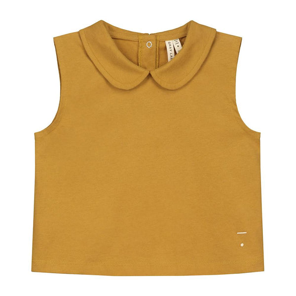 Gray Label Collar Tank Top Mustard - Tiny People Cool Kids Clothes Byron Bay