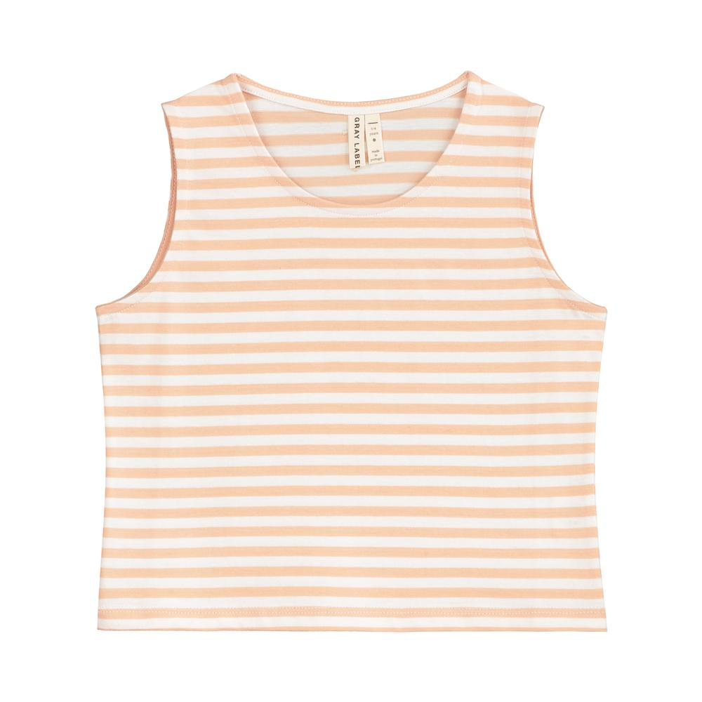 Cropped Tank Top Pop and White Stripe