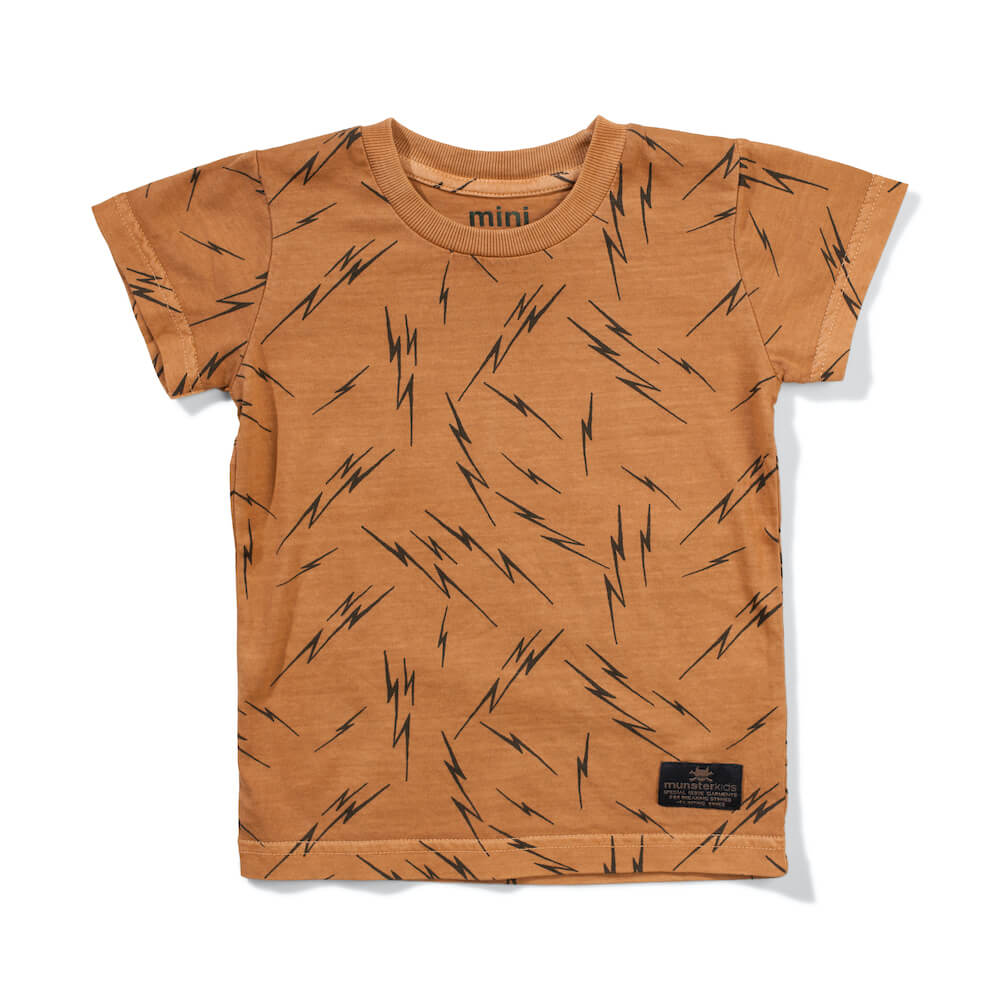 Mini Munster Gold Bolts Tee | Tiny People