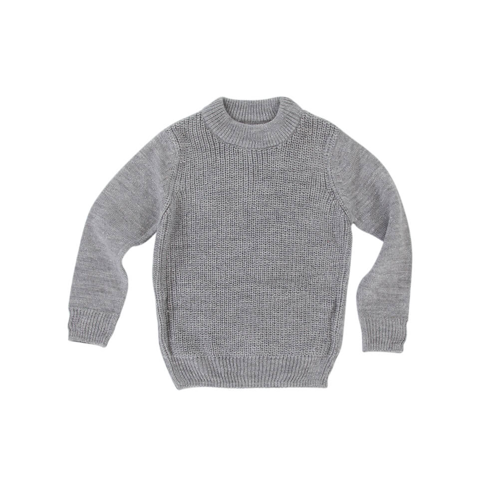 Peggy Grace Knit Marle Grey | Tiny People Online Australia