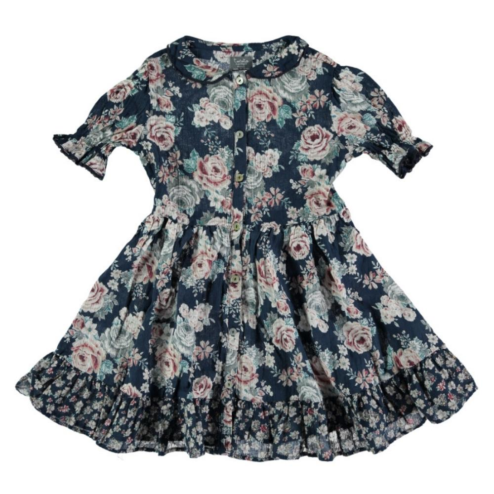 Peter Pan Collar Flowers Dress