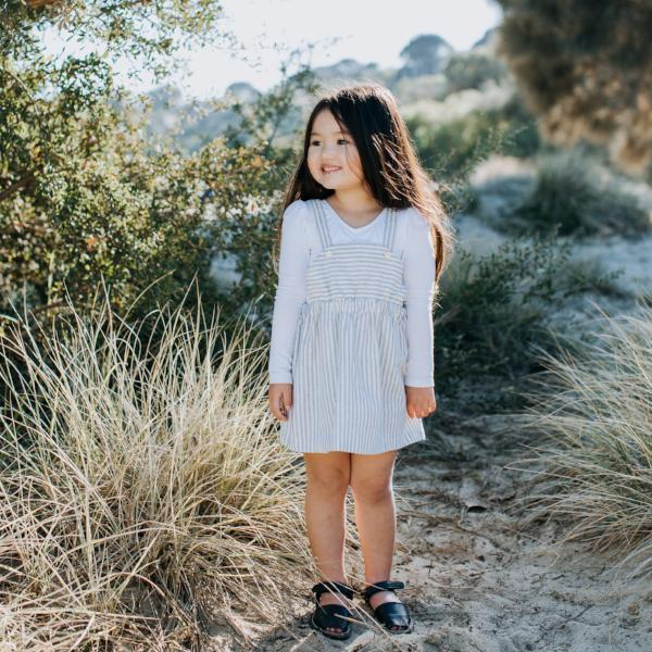 Zoe Linen Stripe Dress