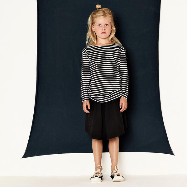 Gray Label 3/4 Skirt Nearly Black - Tiny People Cool Kids Clothes Byron Bay