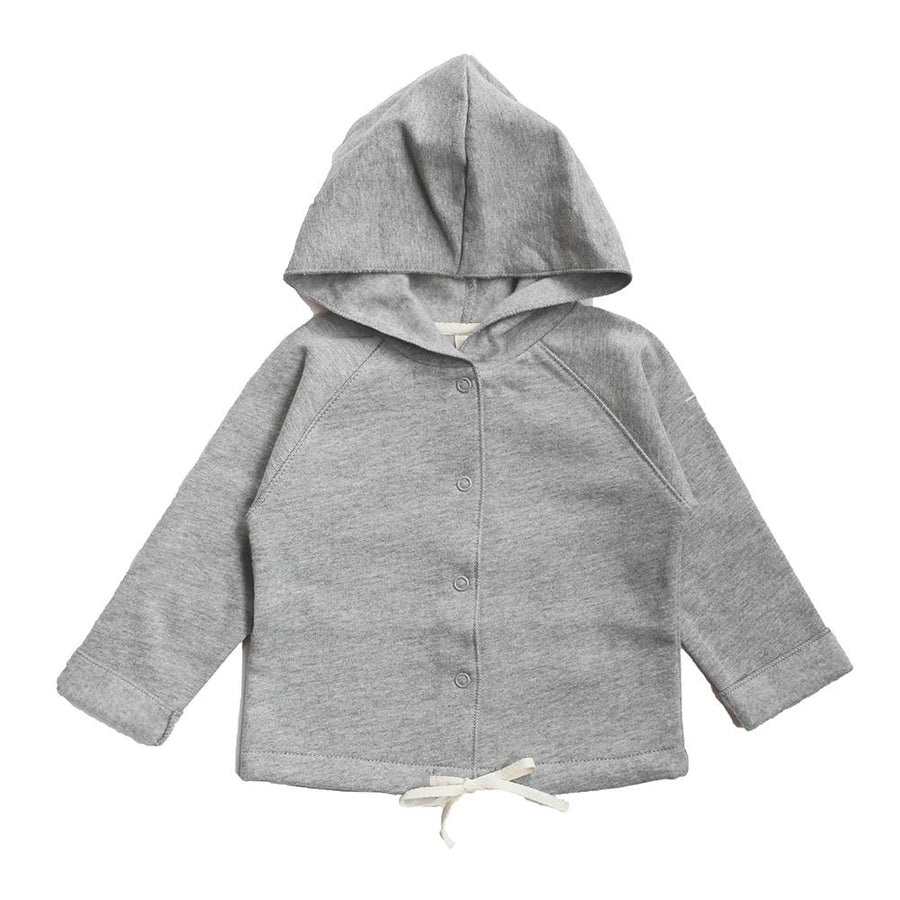 Gray Label Baby Hooded Cardigan Grey Melange - Tiny People Cool Kids Clothes Byron Bay