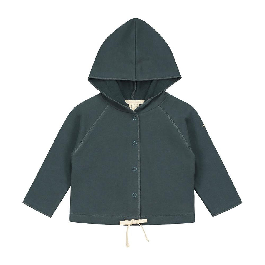 Gray Label Baby Hooded Cardigan Blue Grey - Tiny People Cool Kids Clothes Byron Bay