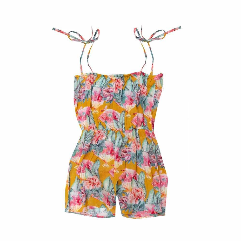 Bella & Lace Gretta Jumpsuit Tuscan Sun Girls Jumpsuits - Tiny People Cool Kids Clothes