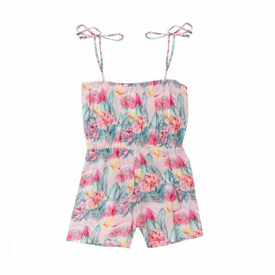 Bella & Lace Gretta Jumpsuit Pink Sea Girls Jumpsuits - Tiny People Cool Kids Clothes