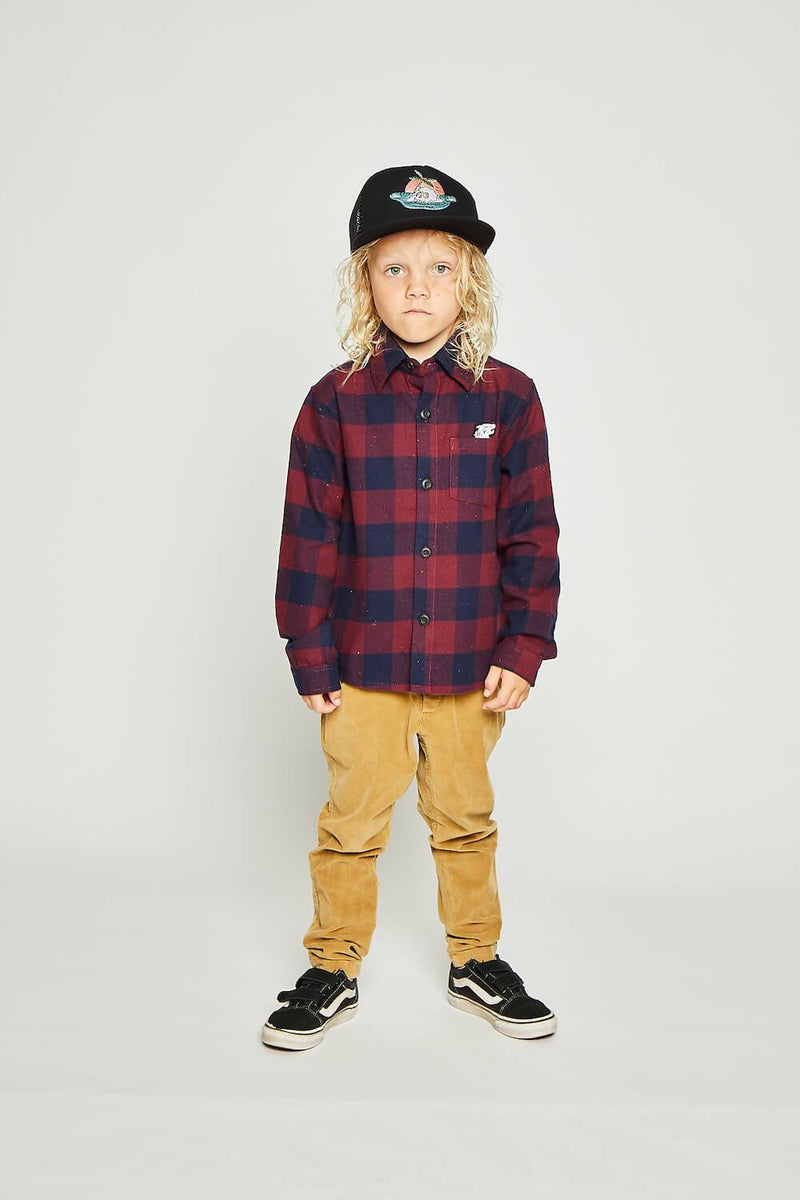 Hukuba Shirt Red Check