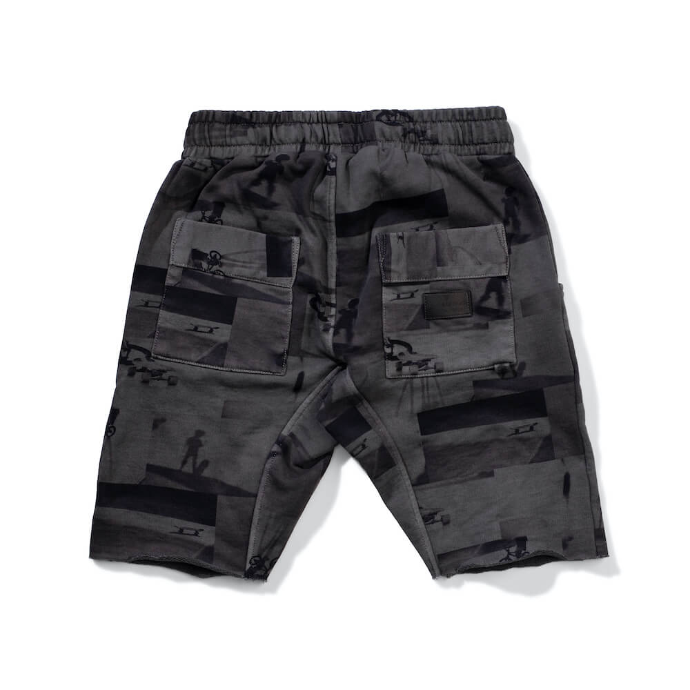 Munster Halfway Short Washed Charcoal | Tiny People Shop