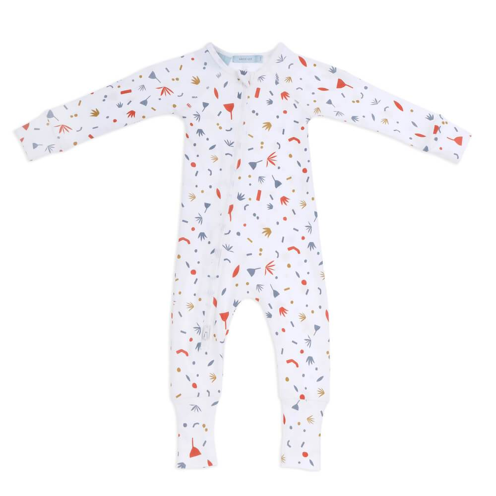 Goldie & Ace Happy Shapes Zipsuit Romper - Tiny People Cool Kids Clothes