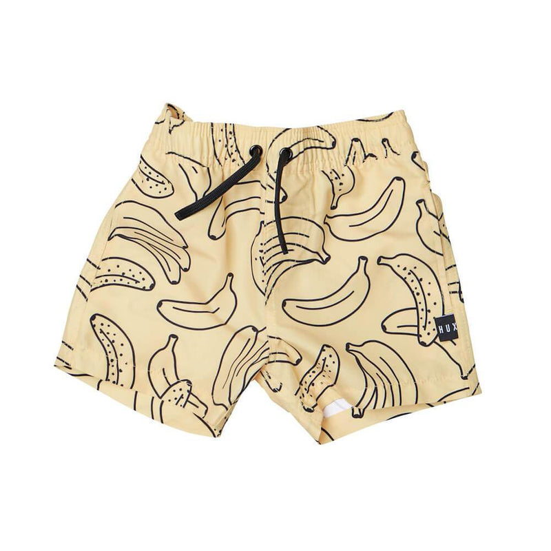Huxbaby Banana Swim Shorts Shorts - Tiny People Cool Kids Clothes