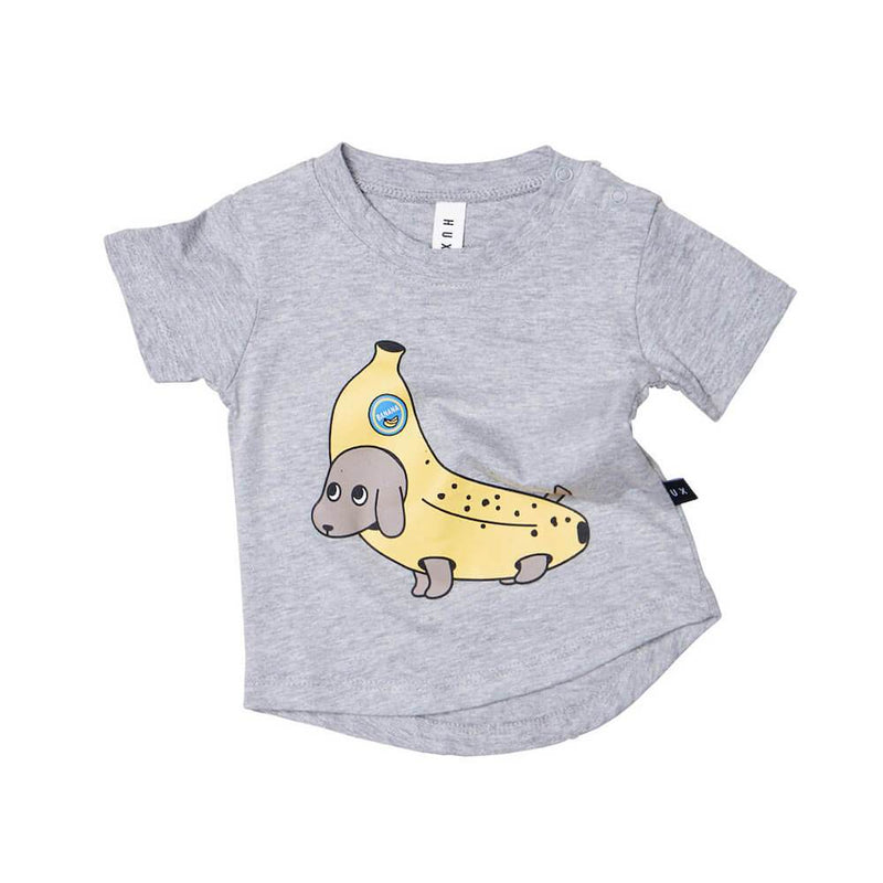 Huxbaby Banana Dog Tshirt Boys Tops & Tees - Tiny People Cool Kids Clothes