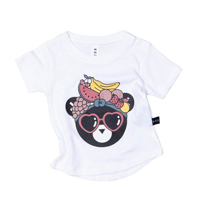 Huxbaby Fruit Bear T-Shirt Girls Tops & Tees - Tiny People Cool Kids Clothes