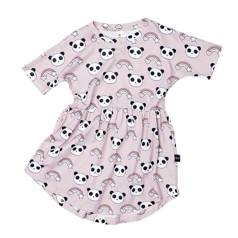 Huxbaby Rainbow Panda Swirl Dress Girls Dresses - Tiny People Cool Kids Clothes