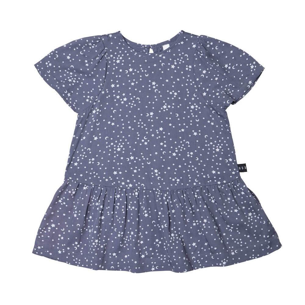 Huxbaby Mia Star Tencel Dress Girls Dresses - Tiny People Cool Kids Clothes