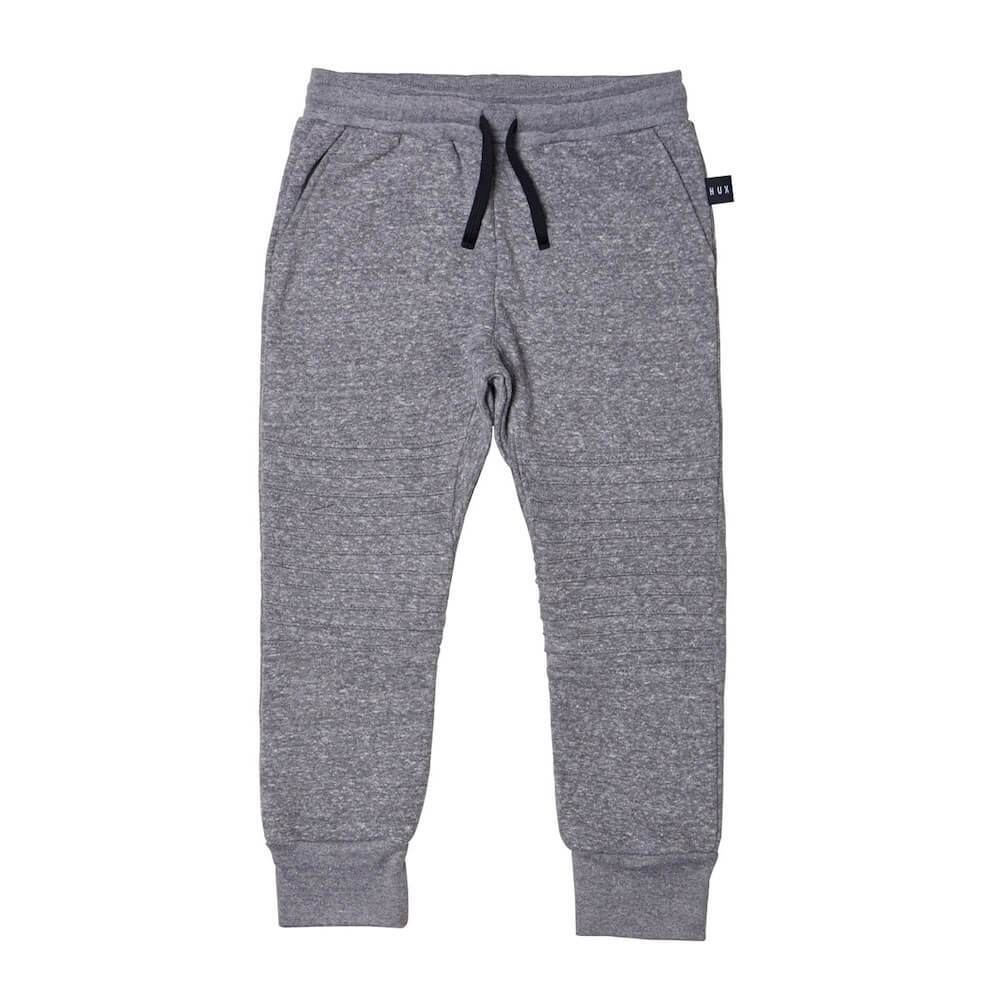 Huxbaby Charcoal Edge Track Pant Pants & Leggings - Tiny People Cool Kids Clothes