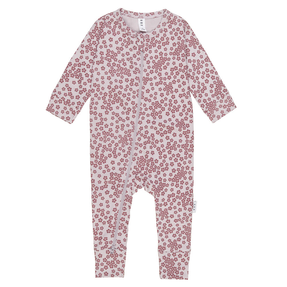 Huxbaby Floral Frill Zip Romper | Tiny People