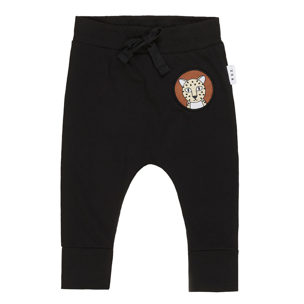 Huxbaby Drop Crotch Pant Black | Tiny People