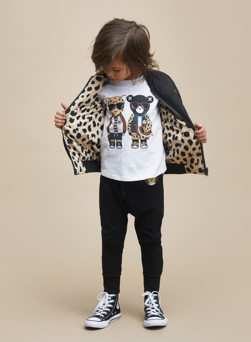 Huxbaby Animal Spot Reversible Bomber | Tiny People