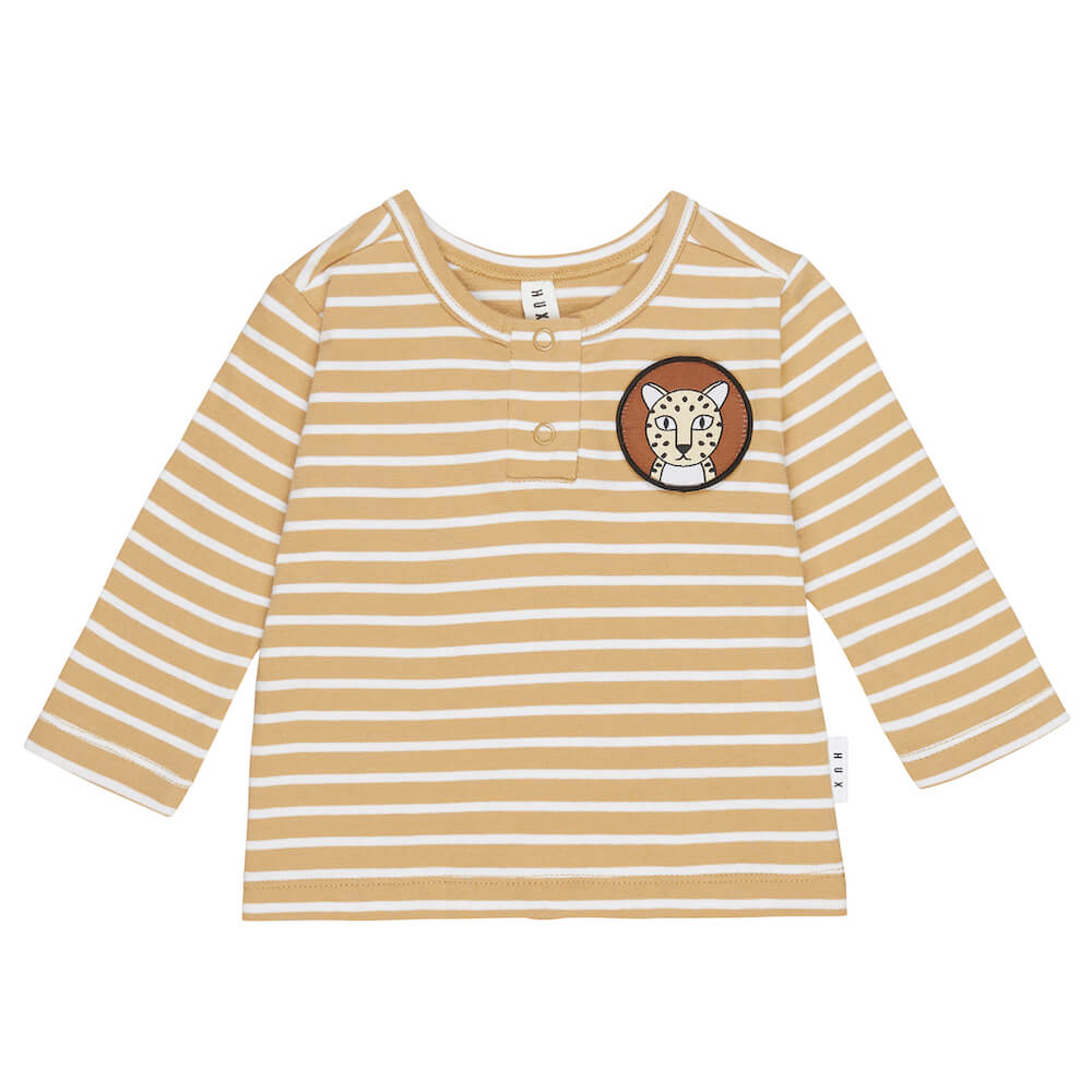 Huxbaby Mustard Stripe Top | Tiny People